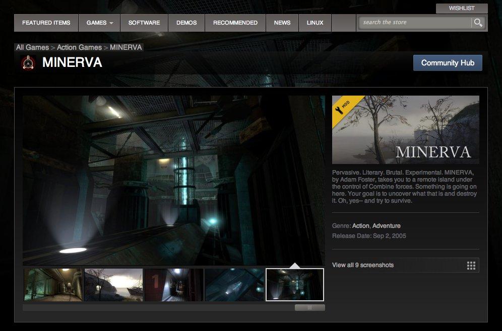 MINERVA mod for Half-Life 2 - Mod DB