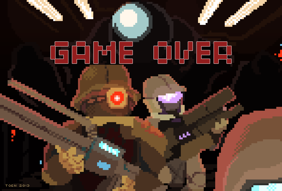 Steam Marines Game Over