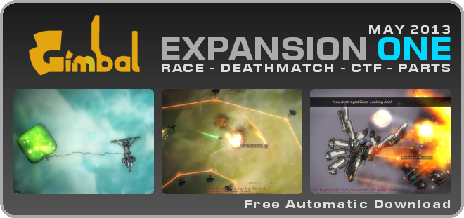 Gimbal EXPANSION ONE Header Graphic - May 2003 - RACE - DEATHMATCH - CTF - PARTS