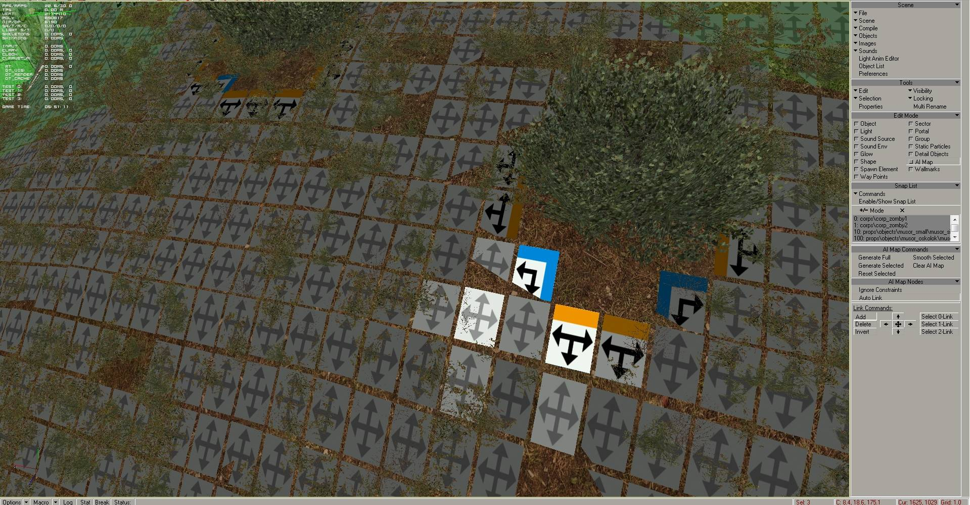 Selected ai nodes