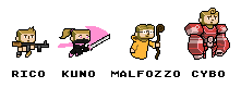 The four characters
