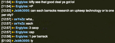 Fully featured in game chat system, including the new chat badges feature. This message was taken from the Help Desk channel. Players in Tribal Hero are typically very helpful.