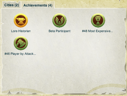 Wesoteric's Achievement screen. He has been given the completely unique