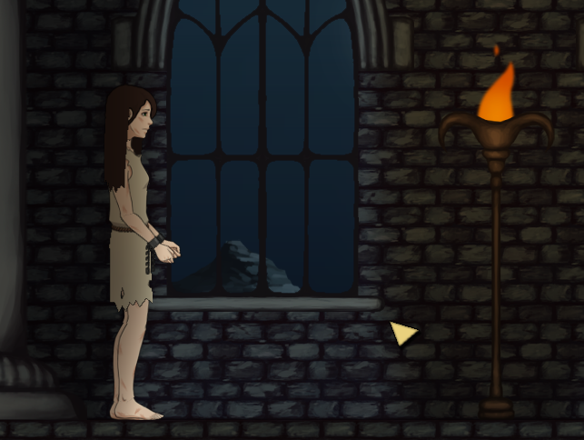 Kisa in moonlight and torchlight