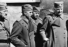 Captured Yugoslavian officers before their deportation to Germany.
