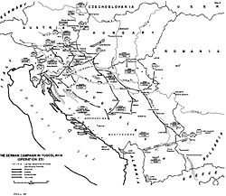 Map of the Axis attack (See this map for unit locations and movements.).