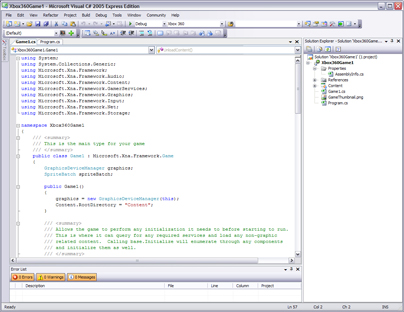 C# in Microsoft XNA