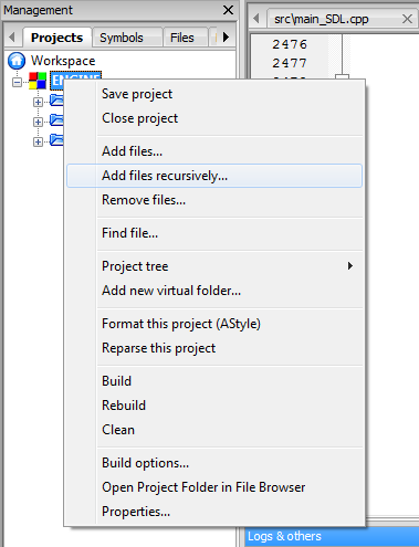 How to compile OpenTomb in Windows using Code::Blocks IDE