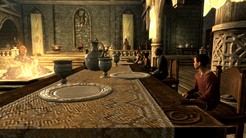 Skyrim's cluttered tables