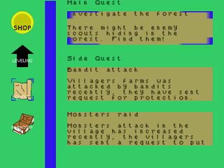 Quests screen