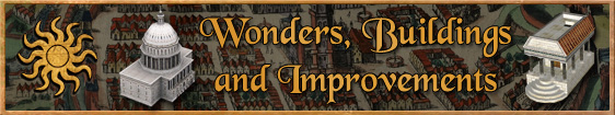 Header 5. Wonders, Buildings and Improvements