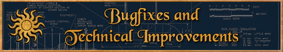 Header 8. Bugfixes and Technical Improvements