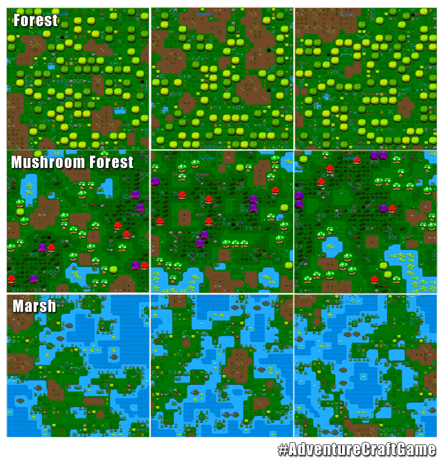 Large Map Generation Testing with 3 biomes news - Adventure Craft