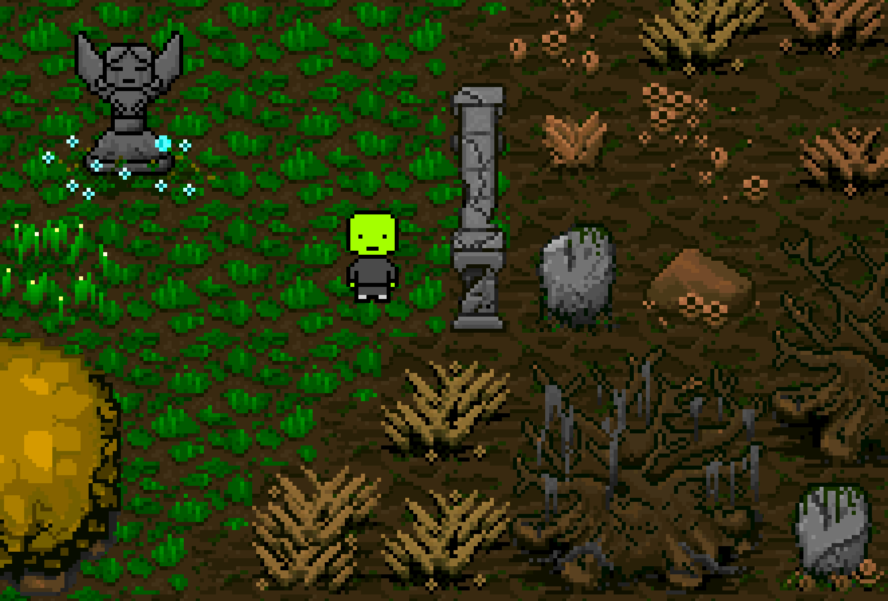 Biome signposting and a quick note about character customization