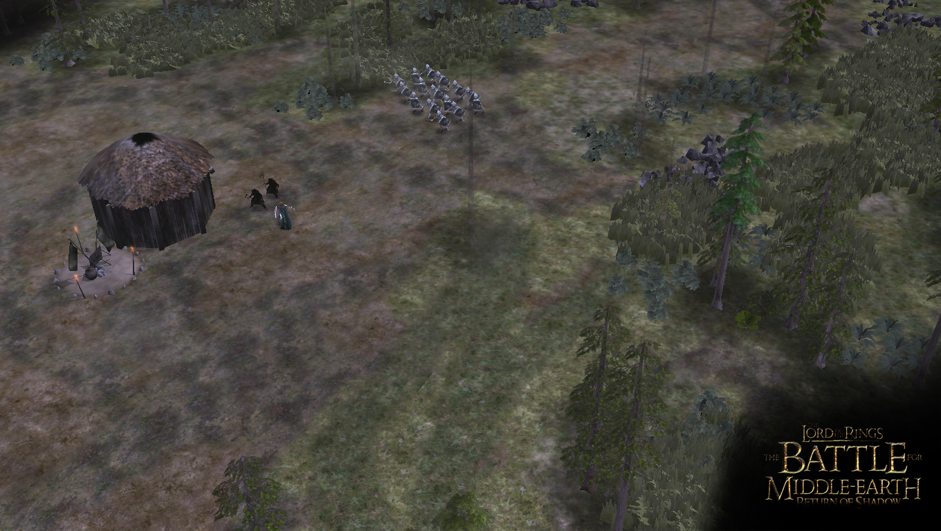 Boromir fights off the local Wild men