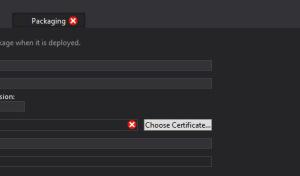 Choose Certificate