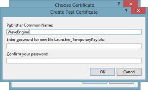 Create test certificate