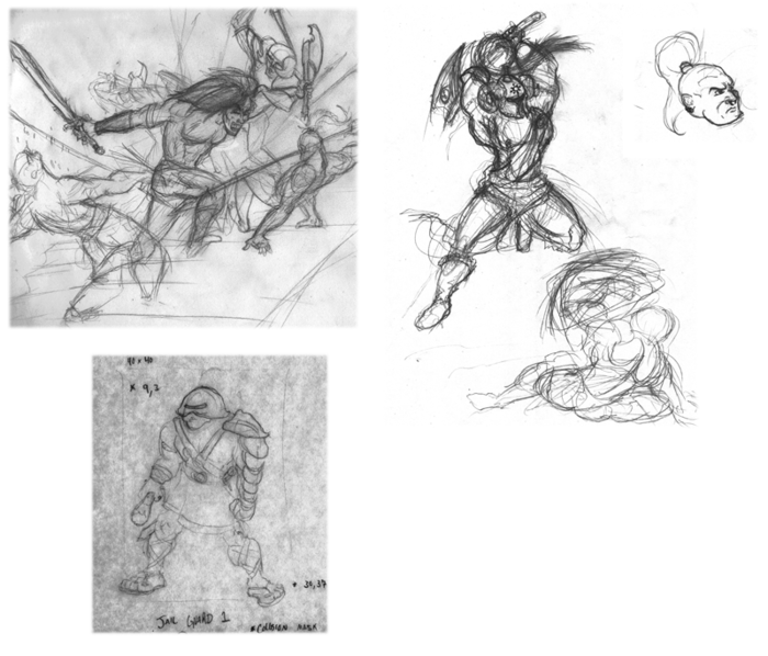 Here are some older concept  sketches I had lying around.