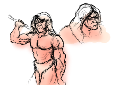 Aaand some new sketches I did up of the main character the other day.