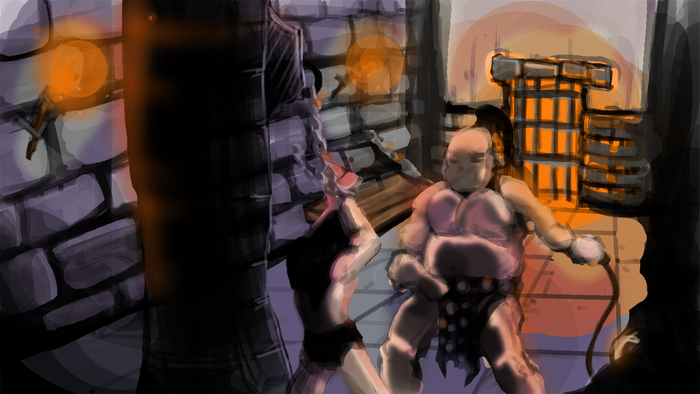 ... And another concept piece I speed drew to flesh out the mood for the first story encounter.
