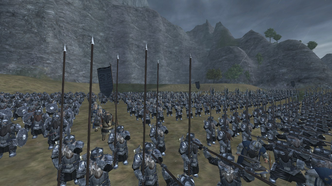 A Dwarven army stands ready.