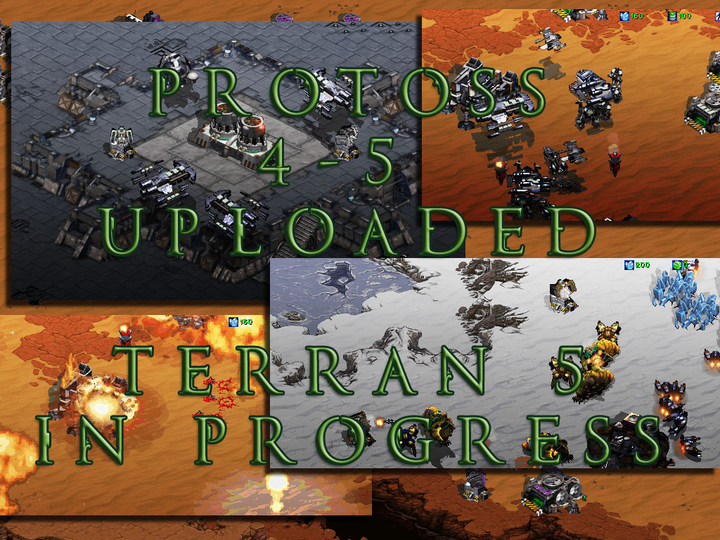 Protoss BW 4-5 maps 5 in development