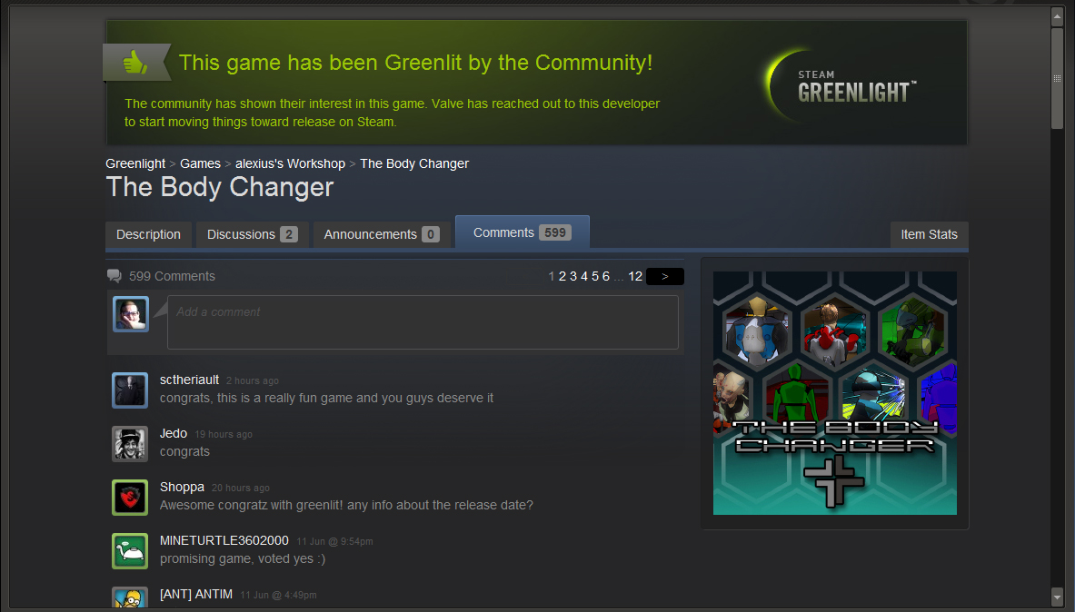 THE BODY CHANGER on GREENLIGHT - GREENLIT!