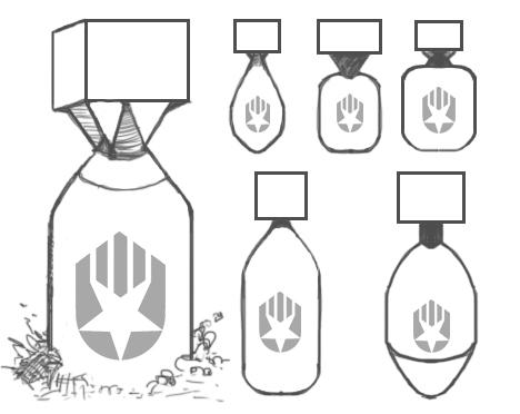 TerraTech bomb designs sketch