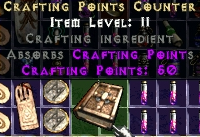 Crafting Points Counter