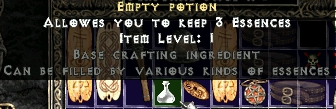 Empty potion