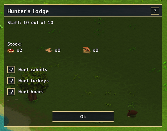 Hunter's lodge screen