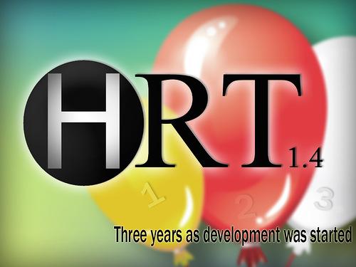 HRT 1.4. Special logo. Happy Birthday (2014)