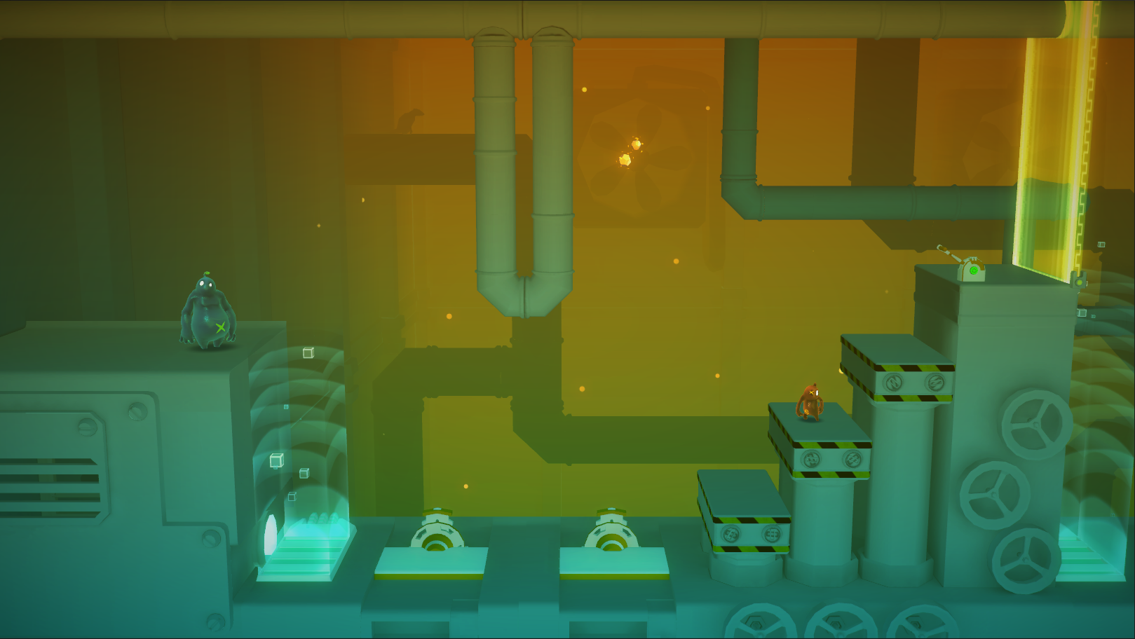 Training level with a different color shading