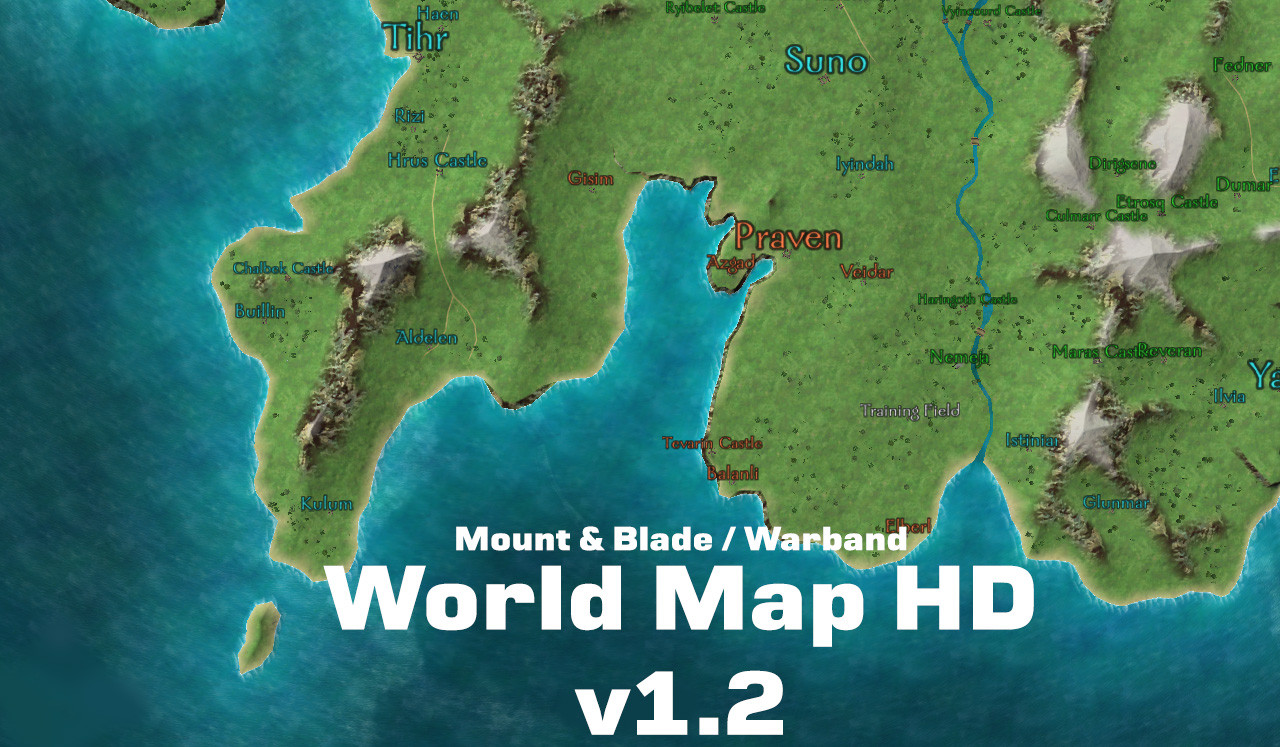 World Map HD mod for Mount & Blade Warband Mod DB