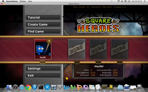 Square Heroes on Mac