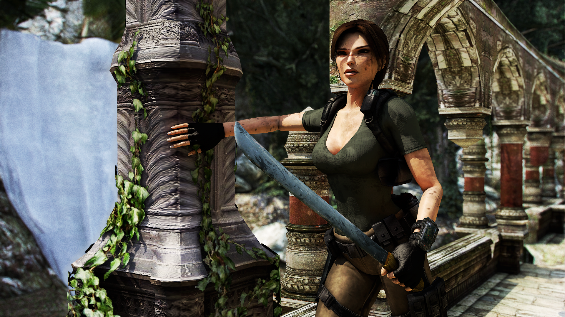 Tomb raider: mountaineer skin for macbook pro