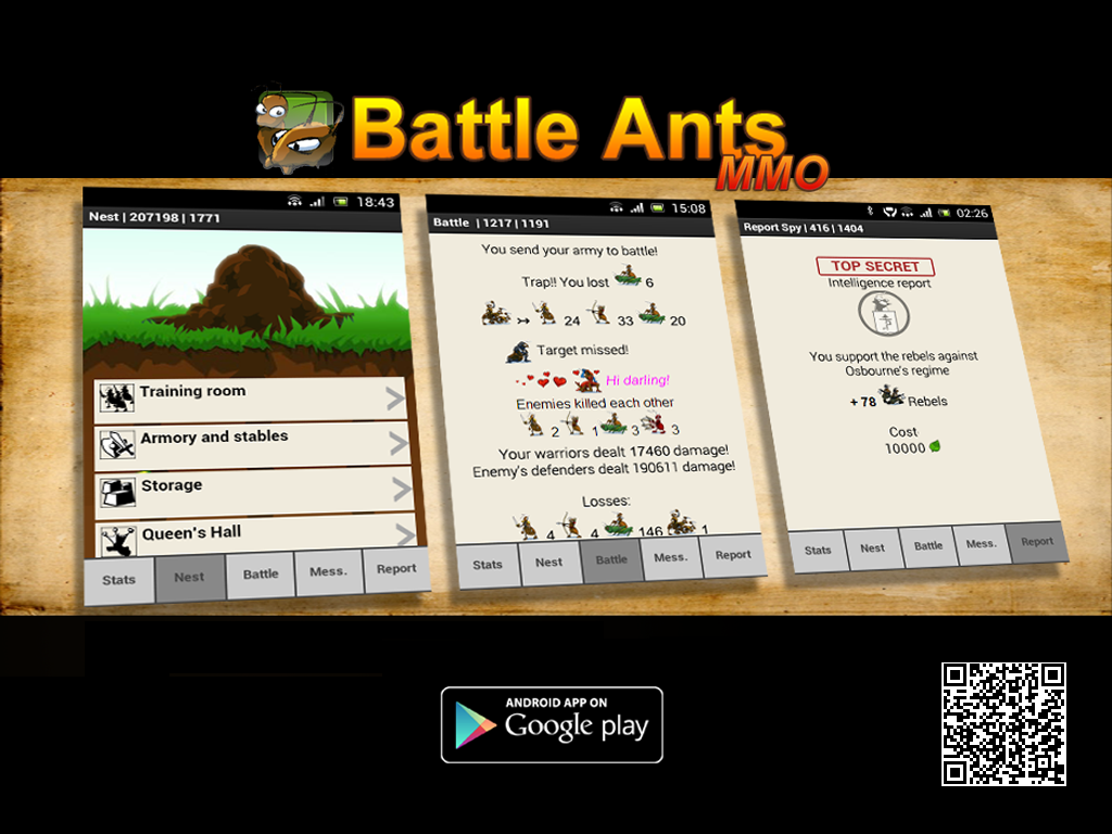 battle of the ants Battle ants mmo 53 likes online funny strategy game for android manage your anthill and challenge other players.