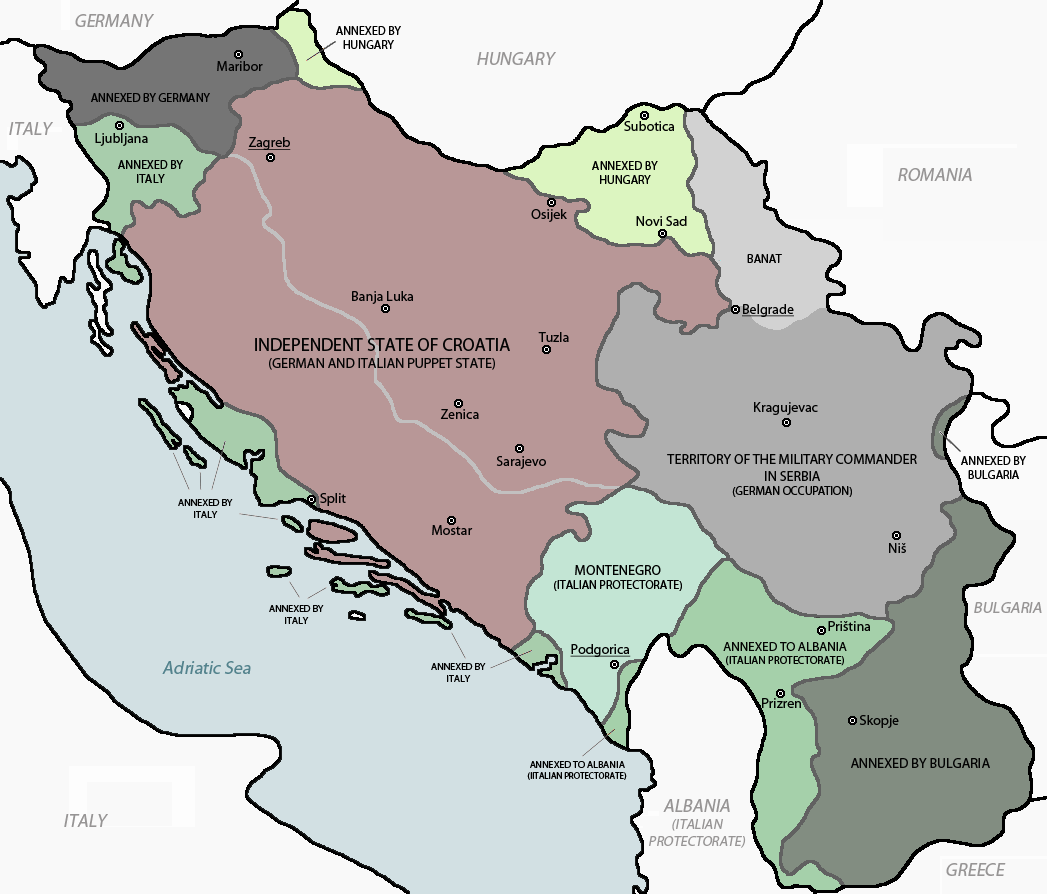 Partition of Yugoslavia in 1941.