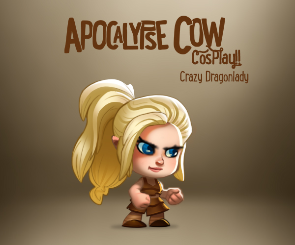 Apocalypse Cow crazy dragonlady costume skin