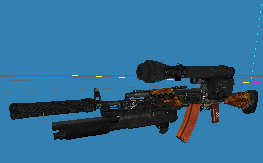 AK-74 view in SDK with all addons visible at once