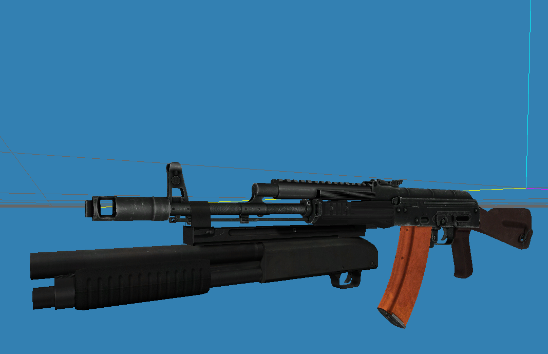 AK-74 with masterkey attached