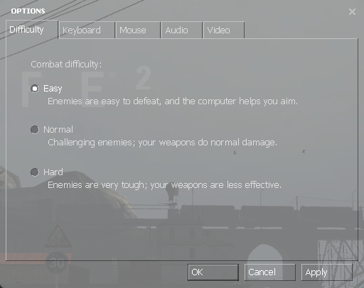 The difficulty settings in Half-Life 2
