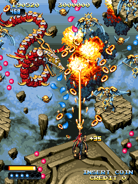 A sweet looking SHMUP with dozens of objects being animated, moved, and drawn at once.