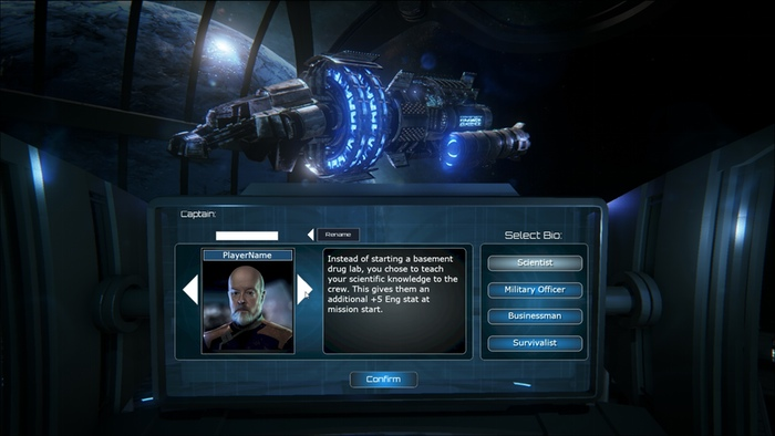 Captain Selection Screen (Work in Progress)