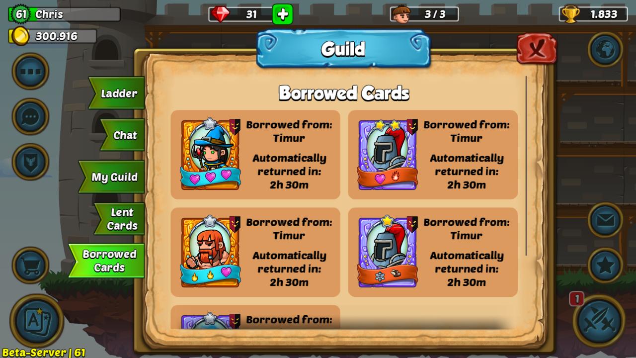 Borrowed Cards