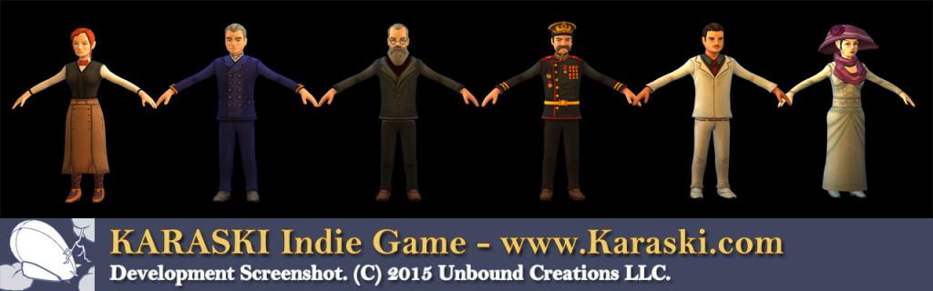 Indie Game Character Models Karaski