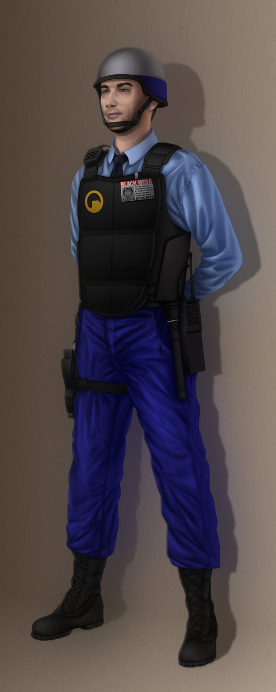This is the security guard concept for my Half-Life fan move.