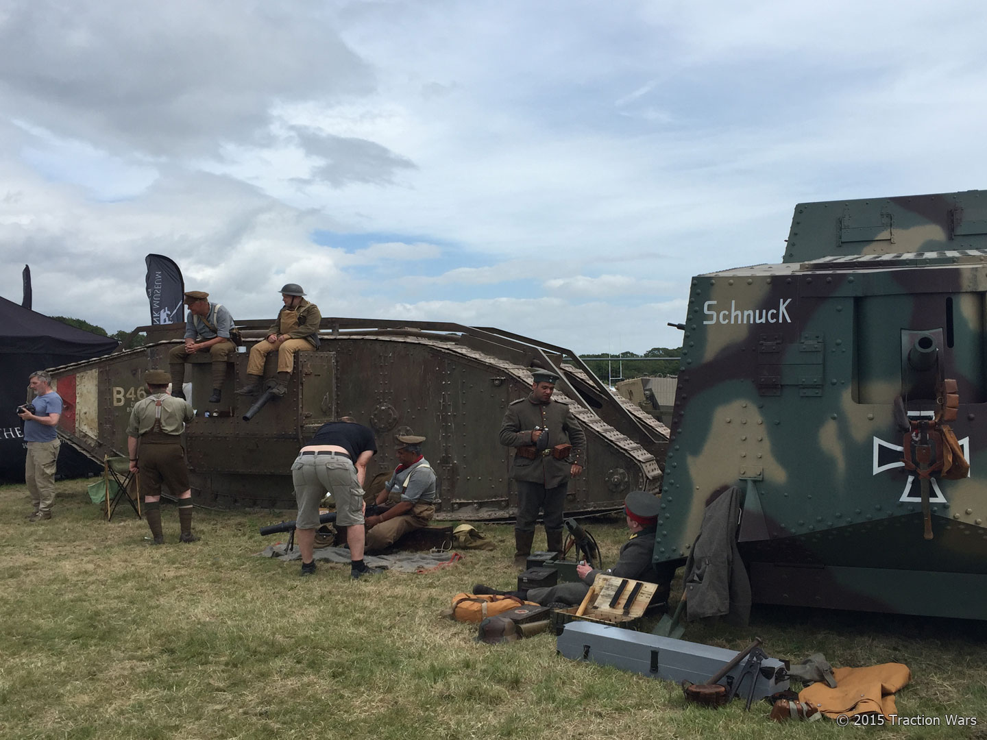 WWI Mark IV and Replica A7V Sturmpanzerwagan