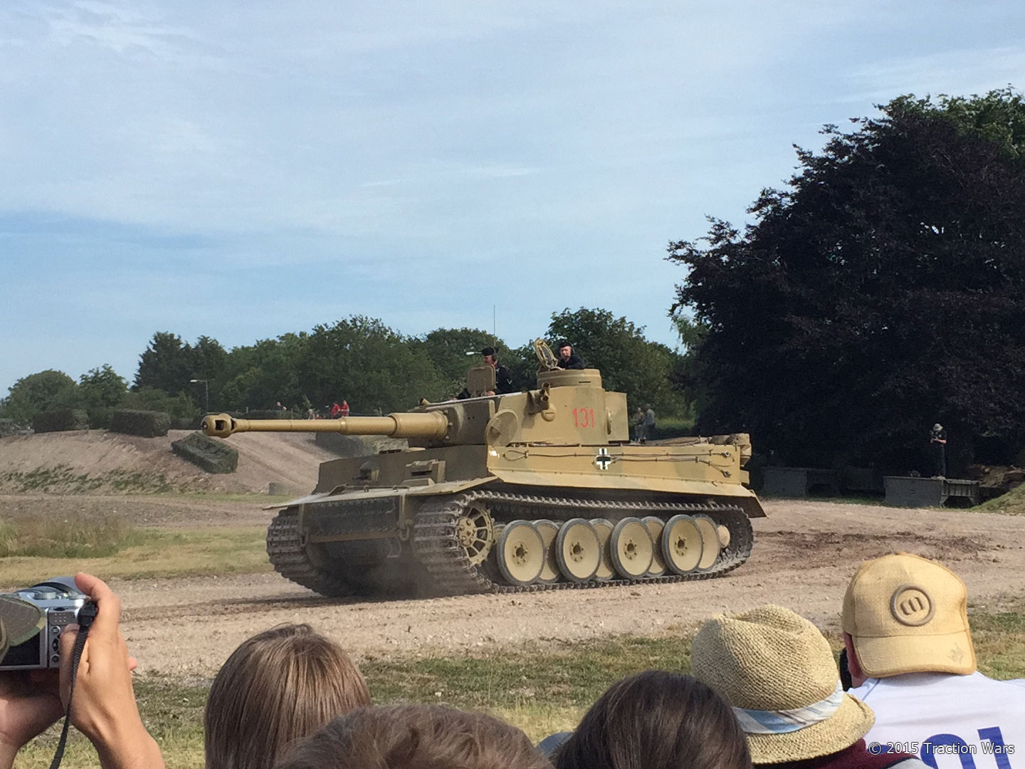 Tiger I No.131 rumbles around the arena