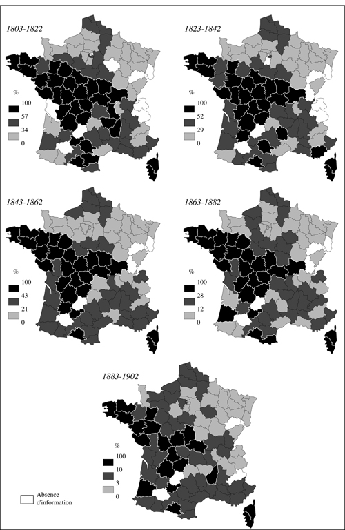 Regional Distribution of Literacy in France